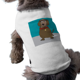 Dog Cartoon on Dog Shirt