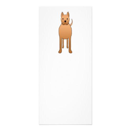 Dog Cartoon. Rack Card
