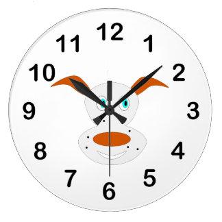 Dog cartoon wall clock