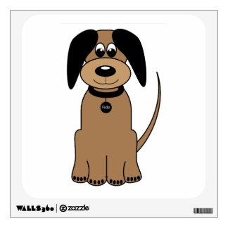 Dog cartoon wall decal