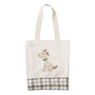 Dog cartoon zazzle HEART tote bag