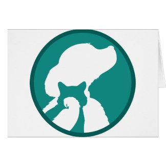 Dog Cat Bird Greeting Card