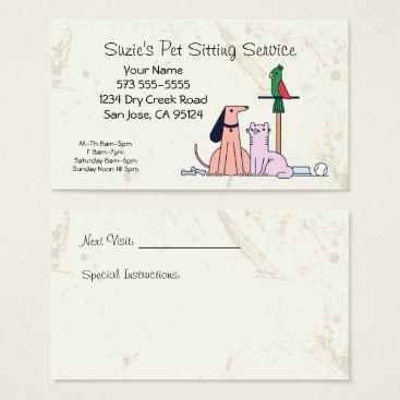 Professional Business Dog Cat Bird Pet Sitting Service Business Card