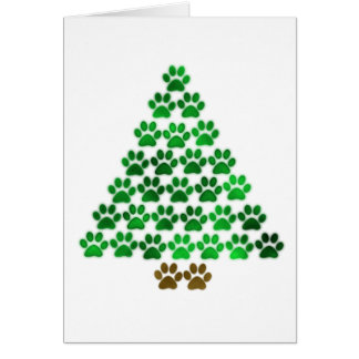 Dog / Cat Christmas Tree Greeting Cards