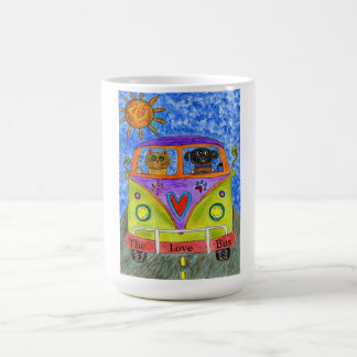 Dog & Cat Driving a Bus 15 oz Mug