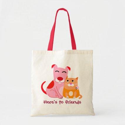 Dog & Cat Friends Budget Tote Bag