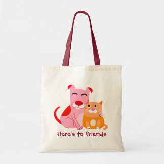 Dog & Cat Friends Tote Bag