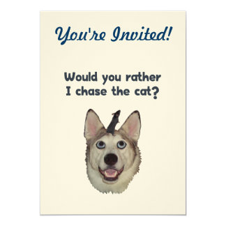 Dog Cat Mouse 5x7 Paper Invitation Card