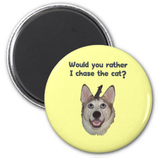 Dog Cat Mouse Refrigerator Magnet