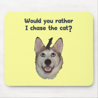 Dog Cat Mouse Mouse Pad