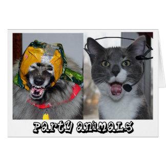 Dog & Cat part animals! Card