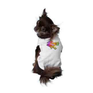 DOG - CAT - PET T-SHIRTS - FROG POP ART DOG SHIRT