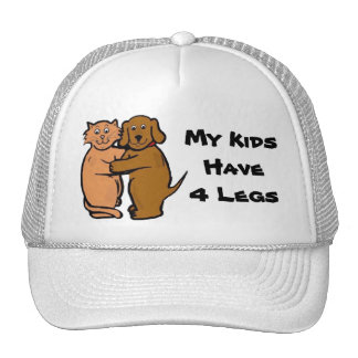 Dog & Cat Smile Hat My Kids Have 4 Legs