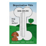 Dog Cause Fundraising Thermometer Poster
