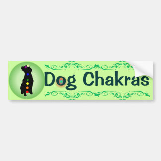 Dog Chakras bumper sticker Car Bumper Sticker