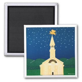 Dog Chapel Magnet-Stephen Huneck 2 Inch Square Magnet