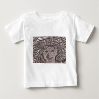 Dog Charcoal Drawing Baby T-Shirt