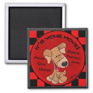 Dog Checker Board Magnet