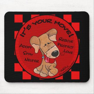 Dog Checker Board Mouse Pad