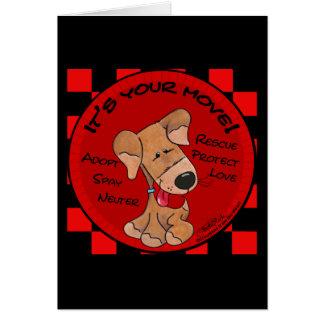 Dog Checker Board-Your Move Card