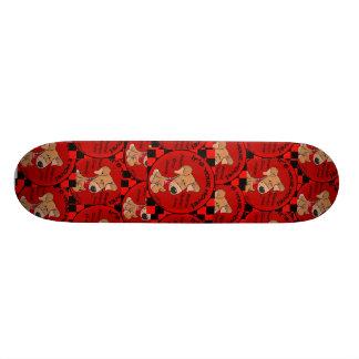 Dog Checker Board-Your Move Skateboard Deck