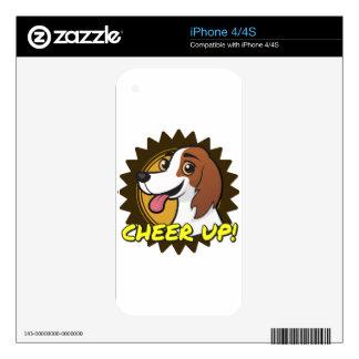 Dog - Cheer Up! iPhone 4 Skin