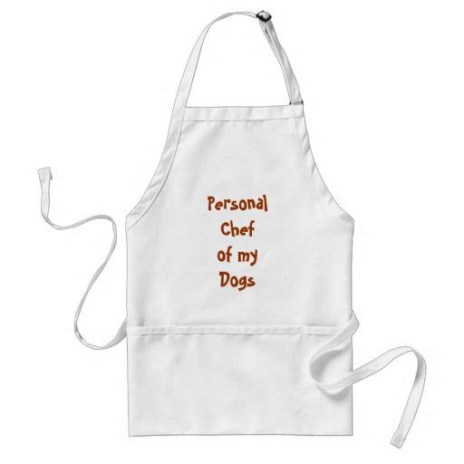 Dog Chef Apron, White Adult Apron