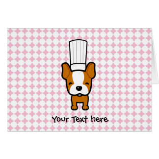 Dog Chef Art Personalized Greeting Cards