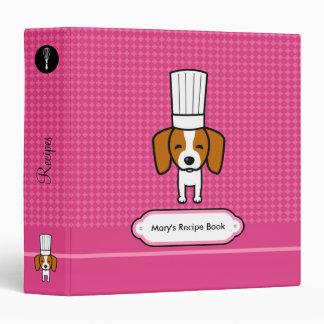 Dog Chef Cute Binder Recipe Organizer