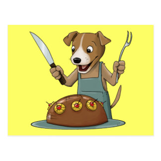 Dog Chef Postcard