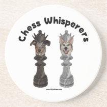 Dog Chess Whisperer Beverage Coaster