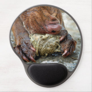 Dog Chewing / Nose Close Up / Macro Gel Mouse Pad