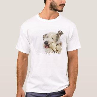 Dog Chewing on Rawhide Bone T-Shirt