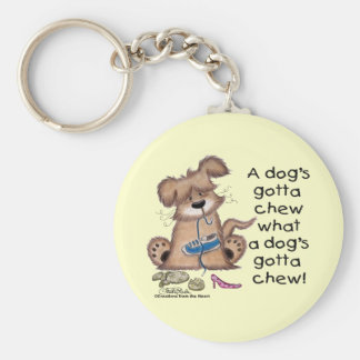 Dog Chews Shoes Keychain