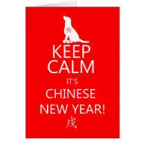 Dog, Chinese New Year, Gong xi fa cai Card