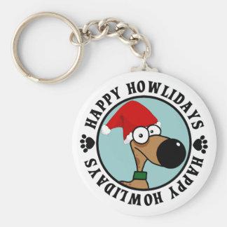Dog Christmas: Happy Howlidays Keychain