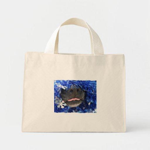 Dog Christmas Opinion Barely Tongue Simple Frame Bag