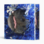 Dog Christmas Opinion Barely Tongue Simple Frame 3 Ring Binders