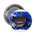 Dog Christmas Opinion Barely Tongue Simple Frame Buttons
