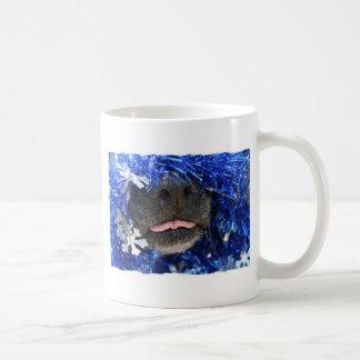 Dog Christmas Opinion Barely Tongue Simple Frame Classic White Coffee Mug