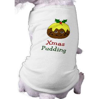 Dog Christmas Outfit -- English Christmas Pudding T-Shirt