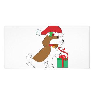 Dog Christmas Present Card
