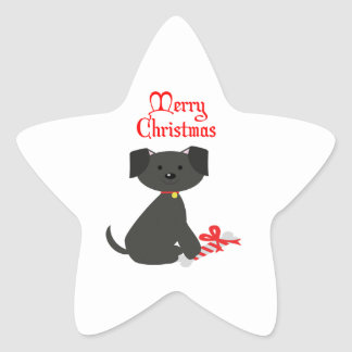 Dog Christmas Sticker