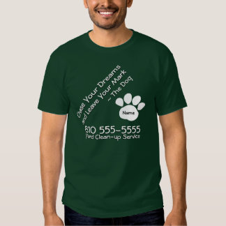 Dog Clean-up Service Tee Shirt