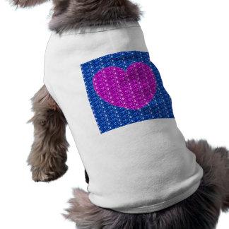 Dog Clothing Blue Pink Heart Glitter