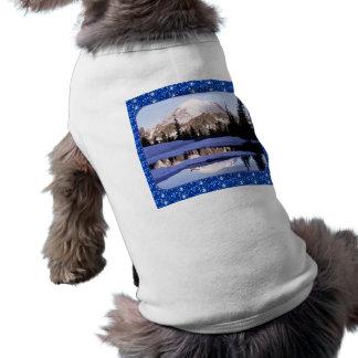 Dog Clothing Mt Rainer Blue Glitter Border