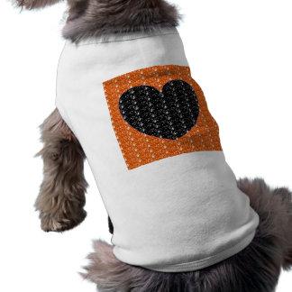 Dog Clothing Orange Black Glitter