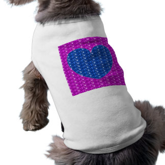 Dog Clothing Pink Blue Heart Glitter