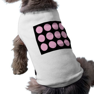Dog Clothing Pink Glitter Circles On Black