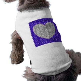 Dog Clothing Purple Silver Heart Glitter
